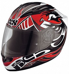 IXS 15011-321 Шлем HX 407 (black-red-white)