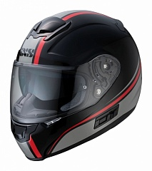 IXS 14076-392  Шлем HX 215 2.1 (black-red-grey)