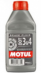 MOTUL DOT 3 & 4 Brake Fluld 0.5L