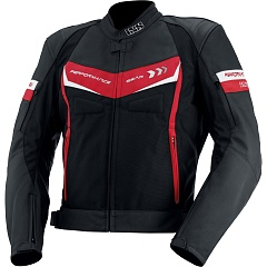 IXS 73012-321 Куртка кожа/текстиль Rockford (black-red-white)